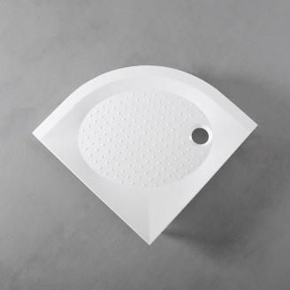 Душевой поддон Fancy Marble полукруглый 900x900 мм R 550