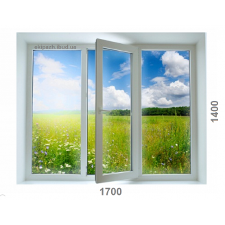 Вікно з 6-камерного профілю WDS Ultra6 1700x1400 мм з однокамерним склопакетом з одною енергією