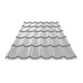 Металлочерепица Монтеррей 0,4 мм полиестер серый металлик