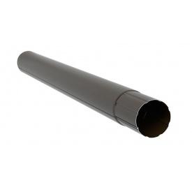 Труба з`єднувальна Aqueduct Преміум 87 мм 1 м темно-коричнева