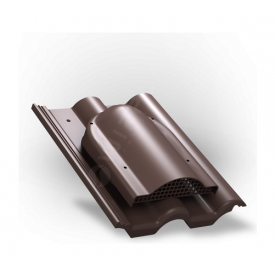 Вентилятор подкровельного пространства Wirplast Tile P60 285x210 мм коричневый RAL 8017