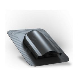 Вентилятор подкровельного пространства Wirplast Simple P17 468x390 мм черный RAL 9005