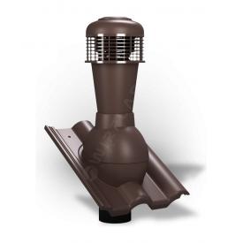 Вентиляционный выход Wirplast Tile К62 110x500 мм коричневый RAL 8017