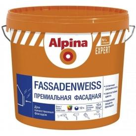 Alpina Fassadenweiss B1 Краска фасадная акриловая 10 л 914500