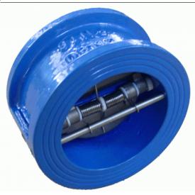 Клапан зворотний двохстворчатий чавунний Py16 Ду150