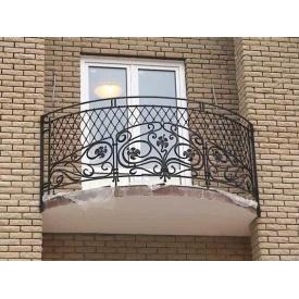 Кована решітка для балкона КБО-1 з декоративним малюнком