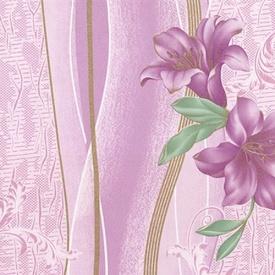 Обои Шарм 68-06 Лилия розовые простые 0.53х10.05м