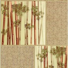Обои Шарм 71-03 Бамбук зеленые влагостойкие 0.53х10.05м