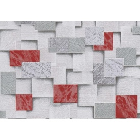 Обои Lanita на бумажной основе Эффект МНК2-0862 красно-серый 0,53х10,05 м
