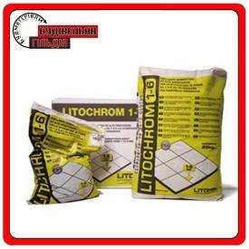 Цементная затирка для швов Litochrom 1-6 С40 антрацит 5 кг