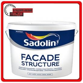 Структурная фасадная краска FACADE STRUCTURE Sadolin белая 10л