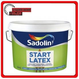 Базовая краска для стен и потолков START LATEX Sadolin белая 10л