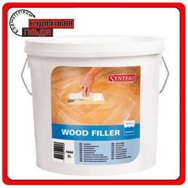Synteko Wood filler light wood шпаклёвка для трещин щелей и прочих неровностей 5 л