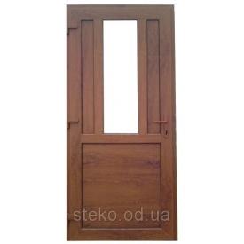 Steko Двери входные пластиковые 200х1000 тёмный дуб