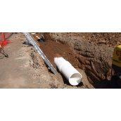 Прокладання трубопроводів каналізації з поліетиленових труб