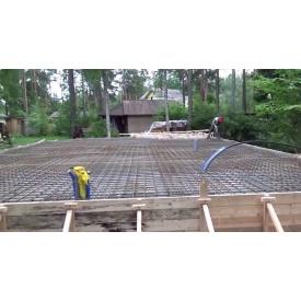 Устройство фундаментной плиты из готового бетона