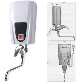 Проточный водонагреватель ELDOM Кран 6500 Вт