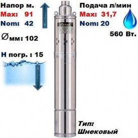 Насос свердловинний SPRUT -4SQGD1,2-45-0.28 91/42 м 20-31,7 л/хв 102 мм 560 Вт
