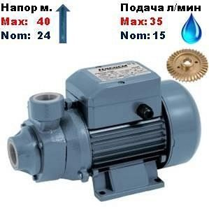 Насос вихревой QB-60P Насосы+ 24/40 м 15-35 л/мин