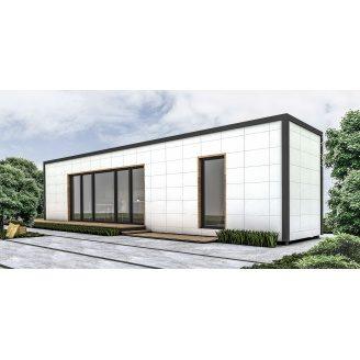 Строительство модульного дома 12,23х2,55 м 30 м2