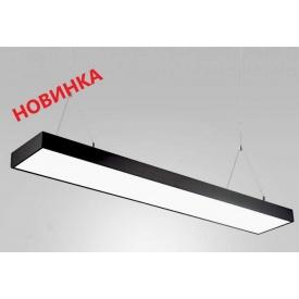 Линейный LED светильник подвесной на тросах 48W 1200 мм черный