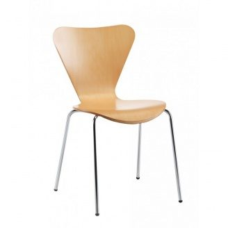 Барний стілець SDM Ант 820х380х430 мм сидіння гнута фанера колір натуральний дуб