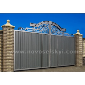 Кованые ворота (New) распашные закрытые без центров