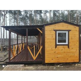 Каркасный деревянный дом 6-5