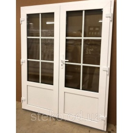 Двох-стулкові Пластикові вхідні двері Steko 1500x2050