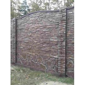 Еврозабор Карпатский камень двухсторонний ЭКО 5 см 2х0,5 м
