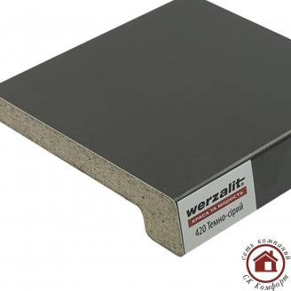 Подоконник Werzalit Exclusiv 600 мм Темно-серый (420)