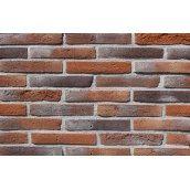 Фасадна плитка Loft Brick Лонг Форд 30 Червоно-коричневий з чорними вставками 295x50 мм