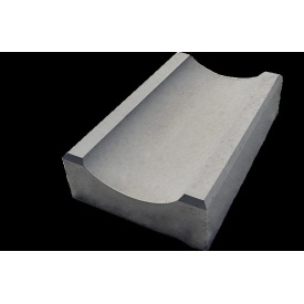 Водостік малий вібролитий Zabor-Perfecto 350х160х60 мм сірий