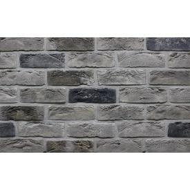 Фасадная плитка Loft Brick Квебек Серый с подпалом 210x65 мм