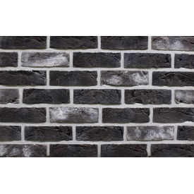 Фасадна плитка Loft Brick Манхетен 10 Темно-коричневий з сіллю 210x65 мм