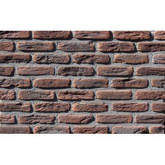 Фасадная плитка Loft Brick МФ 50 Карбон темно-красный 190x50 мм