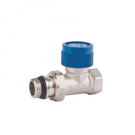 Кран для радиатора отопления 3/4 прямой термостатический с антипротечкой SD FORTE SF239W20