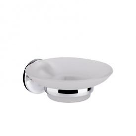 Стеклянная мыльница для ванной настенная матовое стекло GF (CRM)/S- 2802