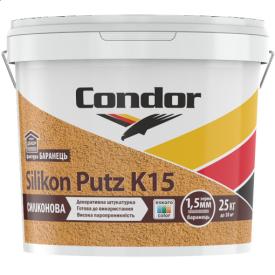 Структурная штукатурка модифицированная силиконом Condor Silikon Putz K15 25кг