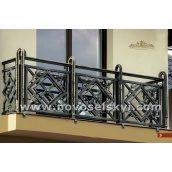 Ковані огородження балкону пряме А3103