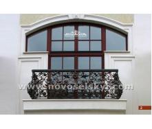 Коване огородження балкону вигнуте А3302