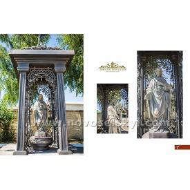 Кованая часовня со статуей Иисуса Христа под заказ