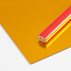 Дзеркальний полістирол AcrilMir 1-2мм золото 2000x1000 мм
