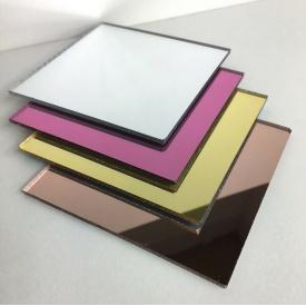 Дзеркальний пластик AcrilMir 3мм золото \ срібло 2050x3050 мм