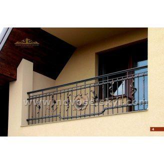 Коване огородження балкону пряме А3104