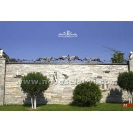 Кованая ограда прямая верхняя А2322