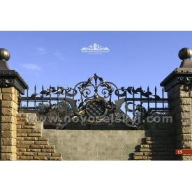 Кованая ограда прямая А2115