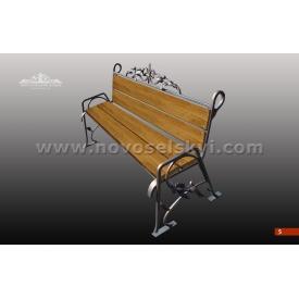 Кованая скамейка со спинкой А7105