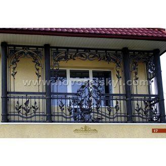 Коване огородження балкону пряме А3117