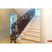 Кованое ограждение лестницы интерьерное А4021